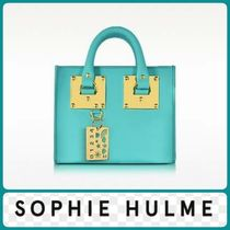 【SOPHIE HULME】Aqua Leather Albion Box Tote Bag送料/関税込