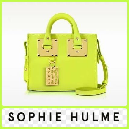 SOPHIE HULME Chartreuse Leather Albion BoxTote shipping /