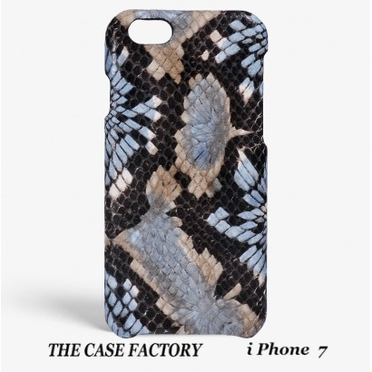 関税送料込☆THE CASE FACTORY☆iPhone7  FLORAL PYTHON BLUE