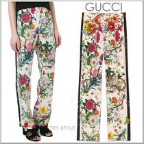 17SS★GUCCI シルク フローラ スネーク パジャマ パンツ