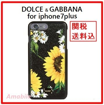 Dolce & Gabbana sunflower iPhone7Plus black