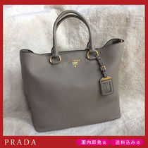 【国内即発】PRADA 1BG865 VITELLO PHENIX  2WAY グレー トート