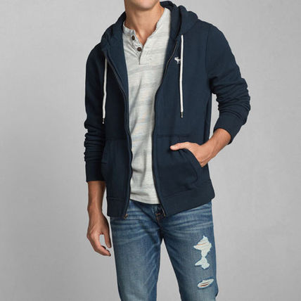 Abercrombie & Fitch パーカー・フーディ AUSABLE RIVER HOODIE  ネイビー