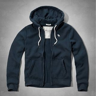 Abercrombie & Fitch パーカー・フーディ AUSABLE RIVER HOODIE  ネイビー(2)
