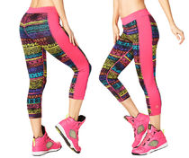 新作♪ZUMBAズンバ Let's Escape Capri Panel Leggings-SPink