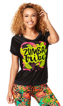 新作♪Zumbaズンバ Zumba Tribe Mesh Top-Back to Black