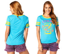 新作♪ZumbaズンバTeam Zumba Burnout Tee-Seaside Surf