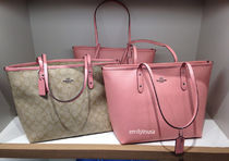 COACH★4月★CITY TOTE トートバッグ A4ファイルOK*ピンク Blush