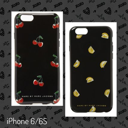 MJ/iPhone 6 / 6 S case and black hard case f Cherry/Lemon