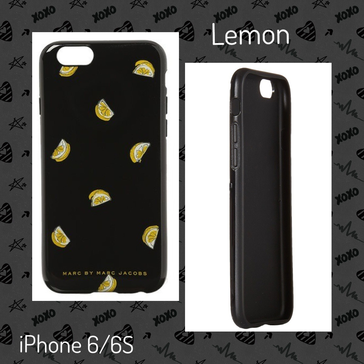 MJ / iPhone 6/6S case / ブラックハードケースf(Cherry/Lemon)