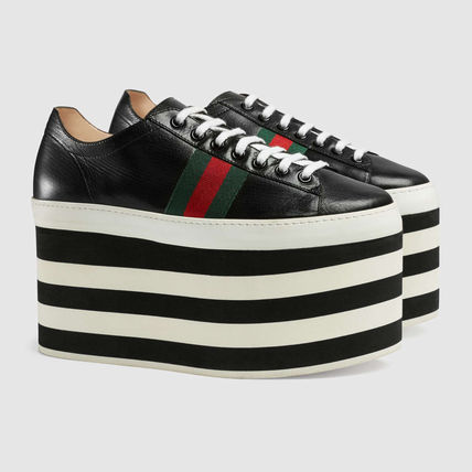 * GUCCI * leather inspired platform sneakers