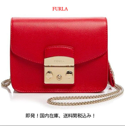 即発、送料関税込み!FURLA Metropolis Mini/RUBY RED