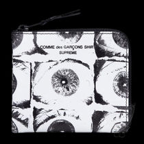SS17 SUPREME CDG COMME DES GARCONS EYES WALLET WHITE