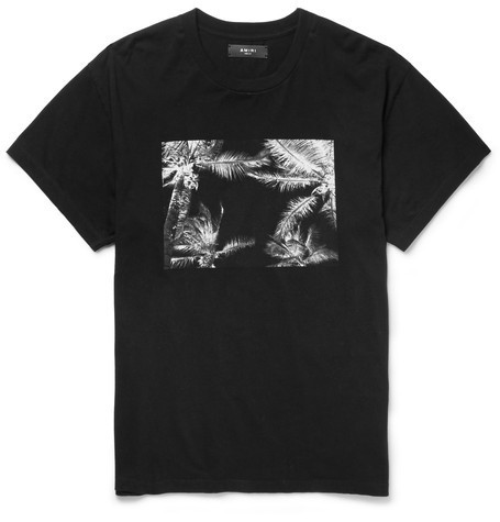 Printed Brushed-Cotton Jersey T-Shirt Tシャツ