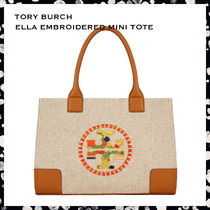【期間限定セール!】Tory Burch* ELLA EMBROIDERED MINI TOTE