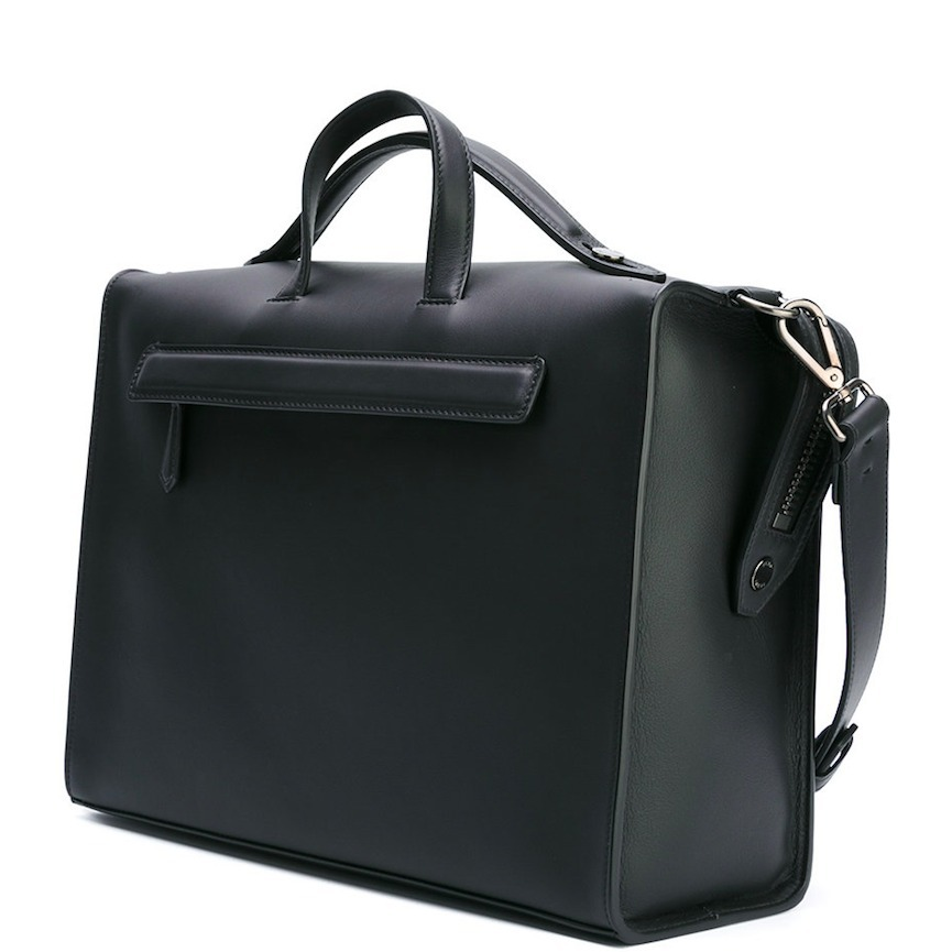 FE1539 DOUBLE HANDLE BAG IN SMOOTH CALF