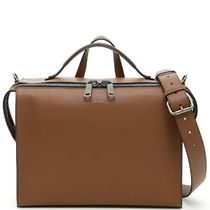 FE1540 DOUBLE HANDLE BAG IN SMOOTH CALF
