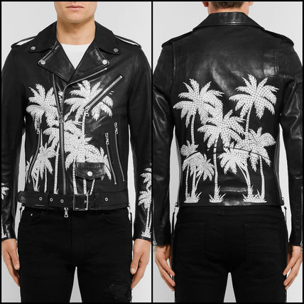 Amir AMIRI: leather by Baker jacket (Black)