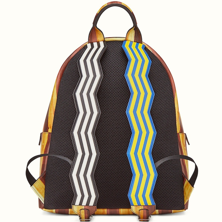 FE1543 BAG BUGS BACKPACK IN MARKER STYLE PRINT LEATHER