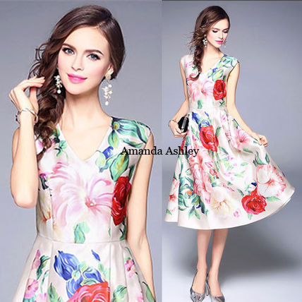 Blooming color colorful large-flowered Peony pattern prom