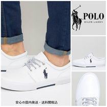 Ralph Lauren☆ Faxon Leather Trainers♪