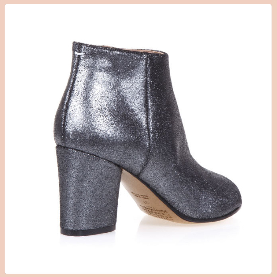 【VIP】数量限定 MAISON MARGIELA METALLIC FABRIC ANKLE BOOTS