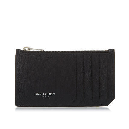 Saint Laurant leather card holder wallet size