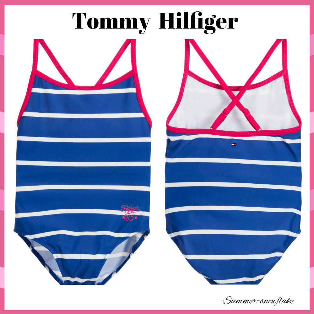 ★Tommy Hilfiger★ストライプ水着ワンピース【送料・関税込】