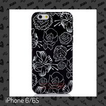 MJ / iPhone 6/6S case / x ディズニー Laughing Flower(Black)