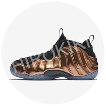 NIKE AIR FOAMPOSITE METALLIC COPPER-BLACK Gold ゴールド 金