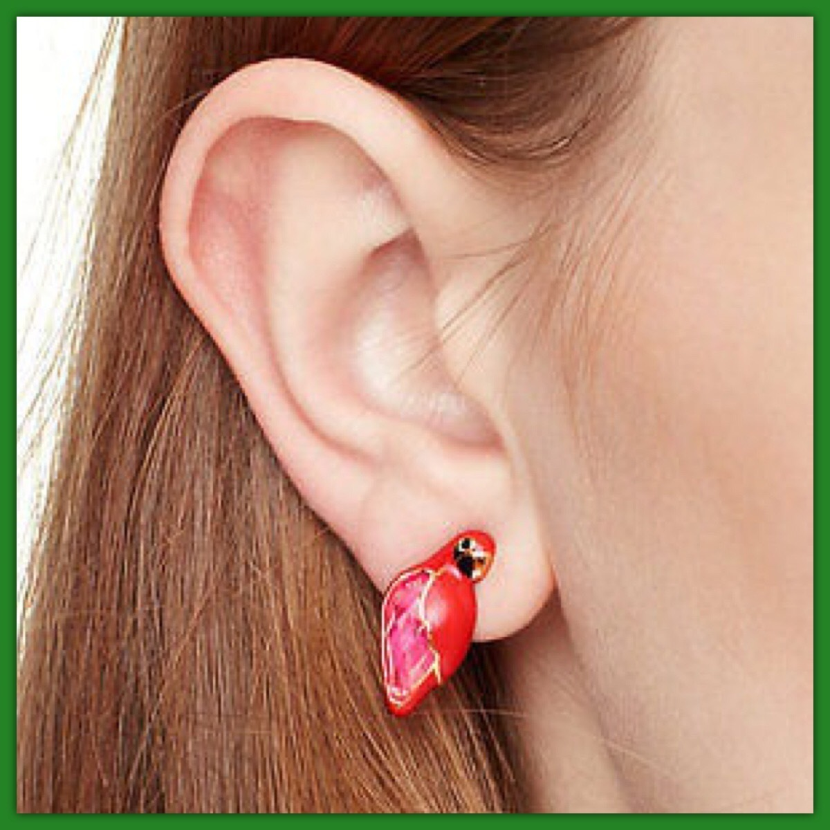 kate spade / ピアス / out of office parrot studs