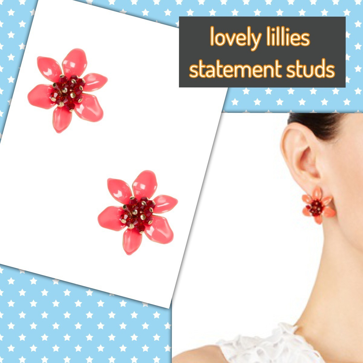 kate spade / ピアス / lovely lilies statement studs