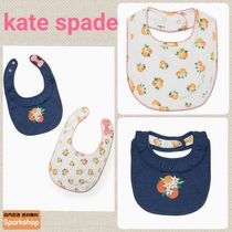2017SS★kate spade★オレンジ柄リボン付ビブ2枚セット箱付★