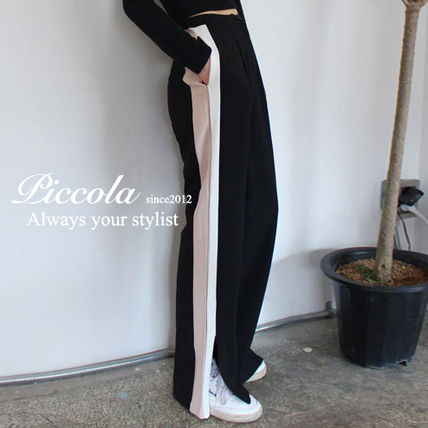 ♦ PICCOLA ♦ adult casual wide line Pants 2 colors