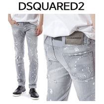 D SQUARED2 ★ WHITE PAINT GRAY WASHING JEANS SLIM FIT