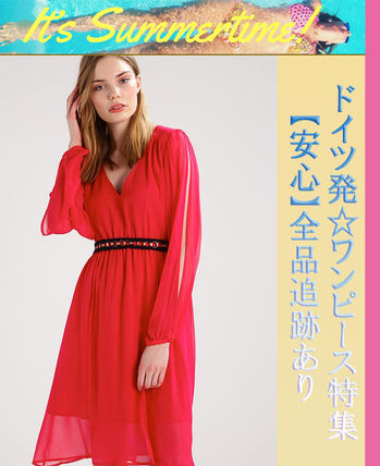 Guess ワンピース プチプラ☆MARCIANO GUESS ワンピース ドレス rose red お洒落