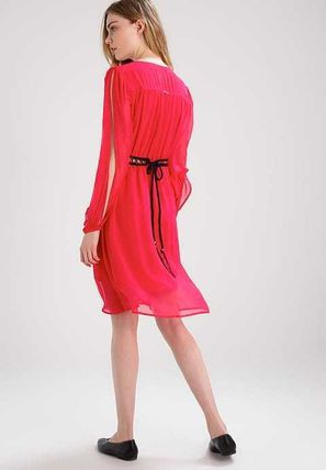 Guess ワンピース プチプラ☆MARCIANO GUESS ワンピース ドレス rose red お洒落(2)
