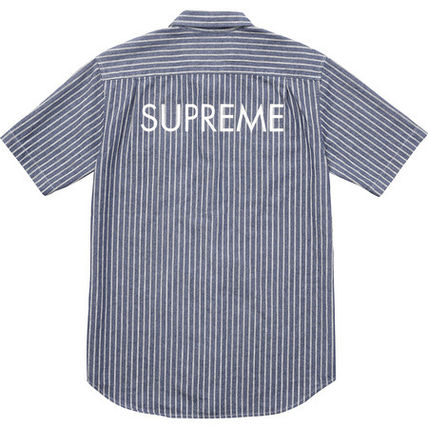 9 weeks17 Supreme short sleeve denim shirt