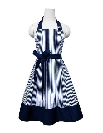 Cute trendy kitchen fashion striped apron-
