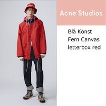 [Acne] Fern Canvas red 撥水加工キャンバス地フィットパーカー