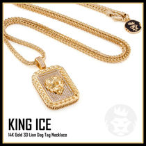 【King Ice】3D Lion Dog Tag ネックレス★送料税込/国内発送