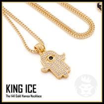【King Ice】The 14K Gold Hamsa ネックレス★送料税込/国内発送