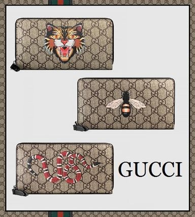 2017 ss GUCCI GG Supreme canvas long wallet
