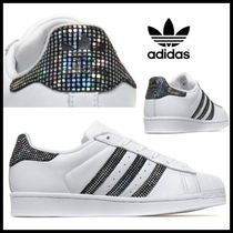 限定♪大人気☆adidas SUPERSTAR☆White Black Spark グリッター