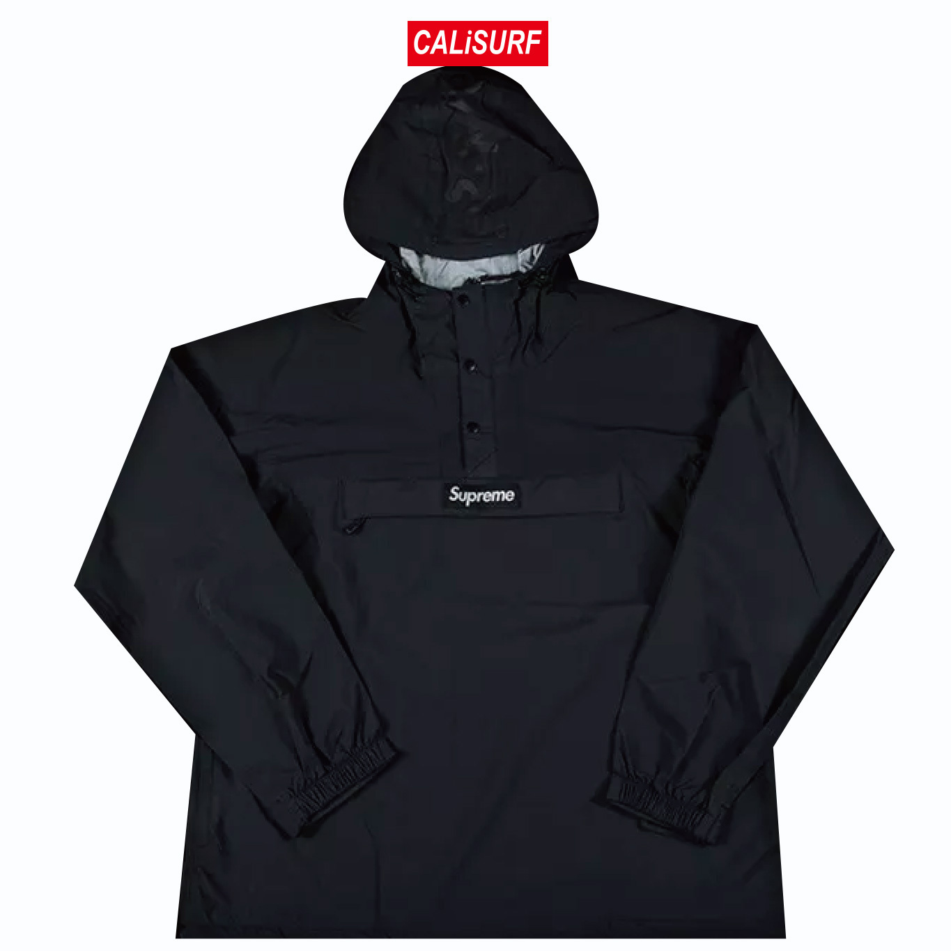 Sサイズ Supreme(シュプリーム) TAPED SEAM ANORAK/BLACK