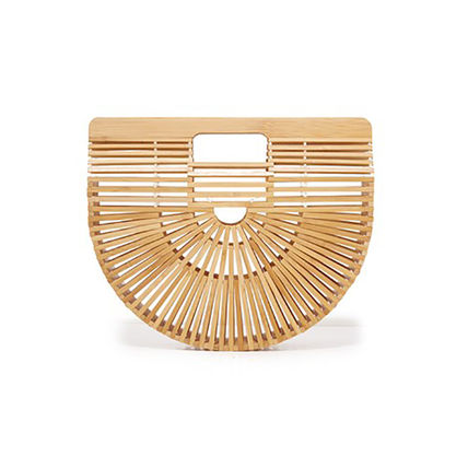 The half-circle Bamboo straw bags goodie bags one by