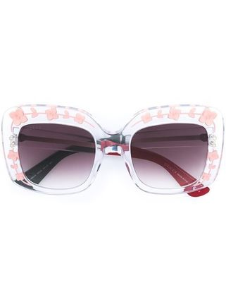 送料・関税込 GUCCI embellished frame sunglasses♪