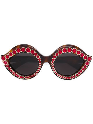 送料・関税込 GUCCI embellished round sunglasses♪
