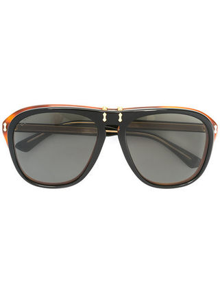 送料・関税込 GUCCI removable lenses oversized sunglasses♪