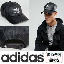 【送料込】adidas Originals*Trefoil Cap / Black Faux Leather*